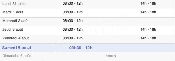 horaires d'ouverture de la Mairie De Carla-Bayle