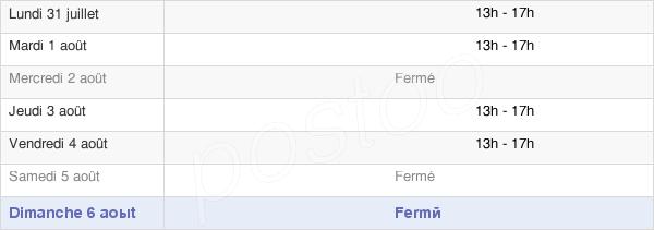 horaires d'ouverture de la Mairie De Villeneuve-Du-Paréage