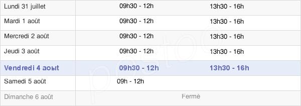 horaires d'ouverture de la Mairie D'Ax-Les-Thermes