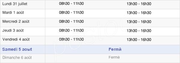 horaires d'ouverture de la Mairie De Ferrières-Sur-Ariège