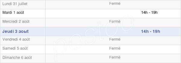 horaires d'ouverture de la Mairie De L'Herm