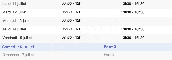 horaires d'ouverture de la Mairie De Laroque-D'Olmes