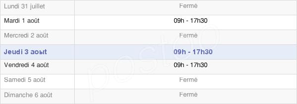horaires d'ouverture de la Mairie De Brassac
