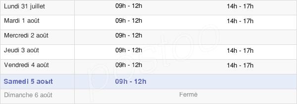 horaires d'ouverture de la Mairie D'Ercé