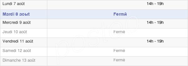 horaires d'ouverture de la Mairie De Sahurs