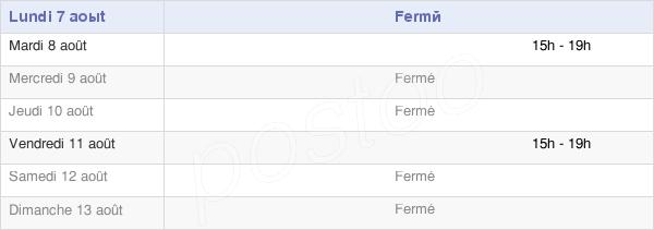 horaires d'ouverture de la Mairie De Fresnay-Le-Long