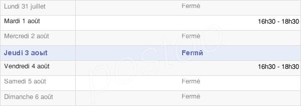 horaires d'ouverture de la Mairie De Saint Vincent Cramesnil