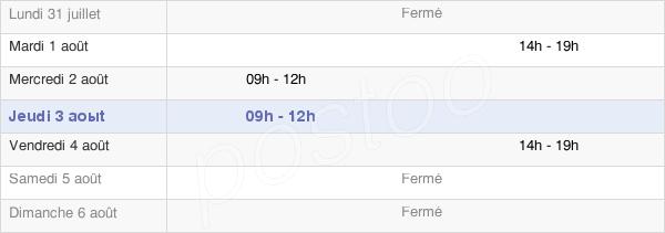 horaires d'ouverture de la Mairie De Saint-Eustache-La-Forêt