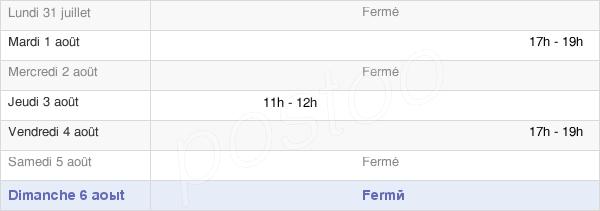 horaires d'ouverture de la Mairie De Saint-Jean-De-Folleville