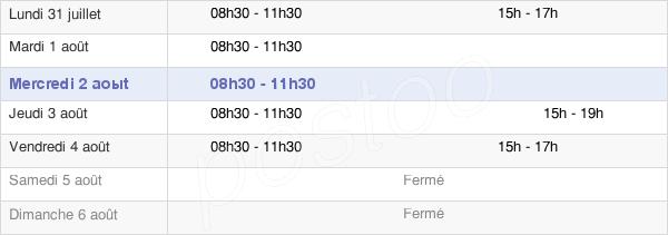 horaires d'ouverture de la Mairie De Saint-Jouin-Bruneval