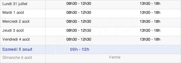 horaires d'ouverture de la Mairie Du Petit-Couronne