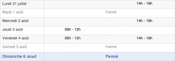 horaires d'ouverture de la Mairie De Saint-Martin-En-Campagne