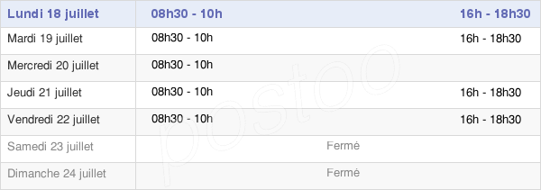 horaires d'ouverture de la Mairie De Roumare