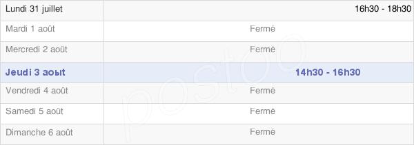 horaires d'ouverture de la Mairie De Gonneville-Sur-Scie