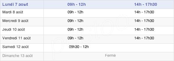 horaires d'ouverture de la Mairie D'Eslettes