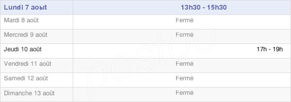 horaires d'ouverture de la Mairie De Foucart