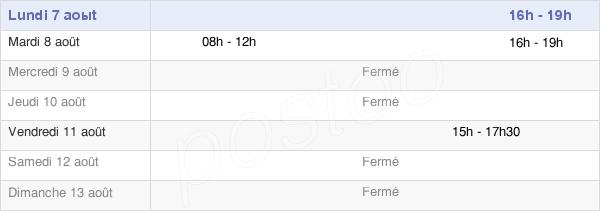 horaires d'ouverture de la Mairie De Saint-Aubin-Routot