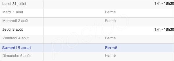 horaires d'ouverture de la Mairie De Touffreville-La-Cable