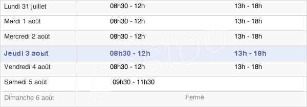horaires d'ouverture de la Mairie De Saint-Léger-Du-Bourg-Denis