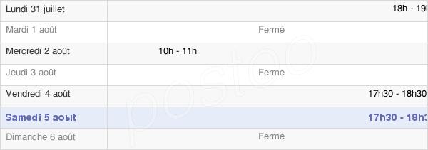 horaires d'ouverture de la Mairie De Bernières