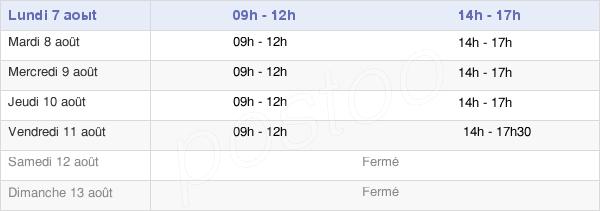 horaires d'ouverture de la Mairie De Gaillefontaine