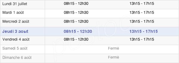 horaires d'ouverture de la Mairie De Maromme