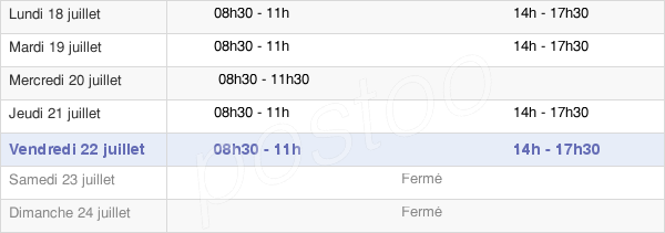 horaires d'ouverture de la Mairie De Nointot