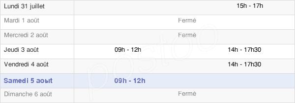 horaires d'ouverture de la Mairie De Flocques
