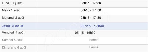 horaires d'ouverture de la Mairie Du Petit-Quevilly
