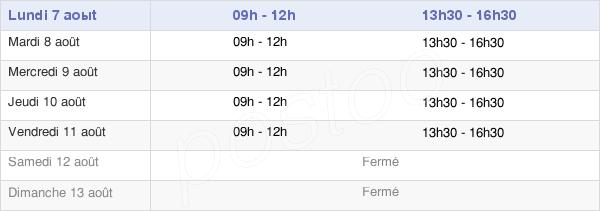 horaires d'ouverture de la Mairie De Fauville-En-Caux