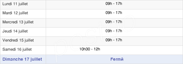 horaires d'ouverture de la Mairie D'Oissel