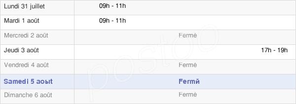 horaires d'ouverture de la Mairie De Rouville