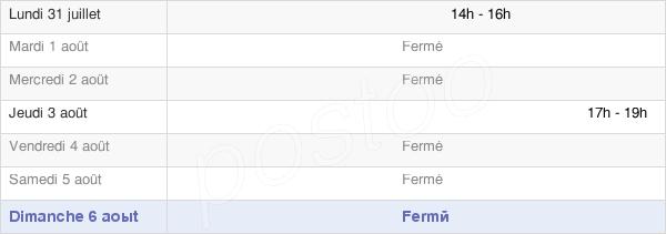 horaires d'ouverture de la Mairie De Bermonville
