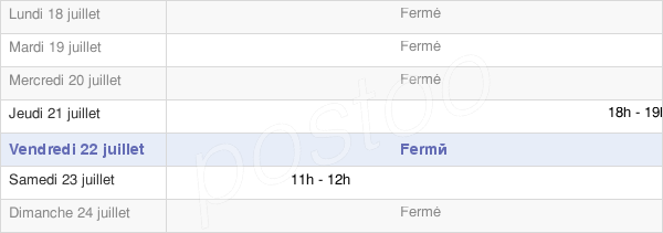 horaires d'ouverture de la Mairie De Saint-Pierre-Lavis