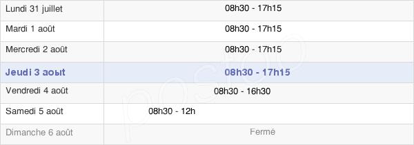 horaires d'ouverture de la Mairie De Sotteville-Lès-Rouen
