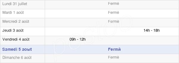 horaires d'ouverture de la Mairie De Brachy