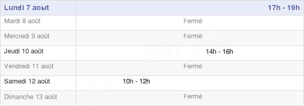 horaires d'ouverture de la Mairie De Beaumont-Le-Hareng