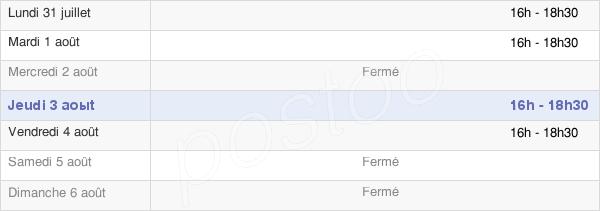 horaires d'ouverture de la Mairie De Quévreville-La-Poterie