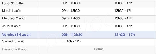 horaires d'ouverture de la Mairie De Cléon