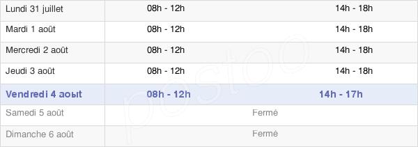 horaires d'ouverture de la Mairie De Doullens