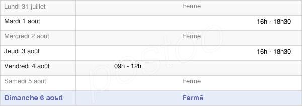 horaires d'ouverture de la Mairie D'Étainhus