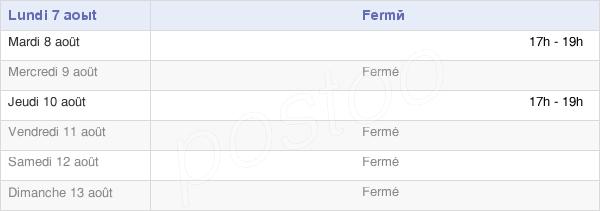 horaires d'ouverture de la Mairie De Grainville-Ymauville