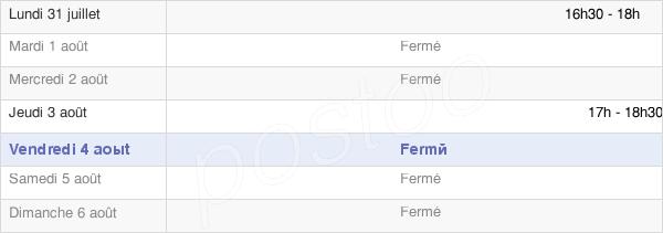 horaires d'ouverture de la Mairie D'Authie