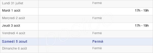 horaires d'ouverture de la Mairie De Hermeville