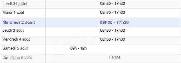 horaires d'ouverture de la Mairie De Saint-Étienne-Du-Rouvray