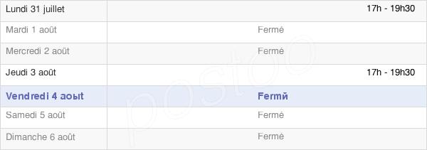 horaires d'ouverture de la Mairie D'Essertaux