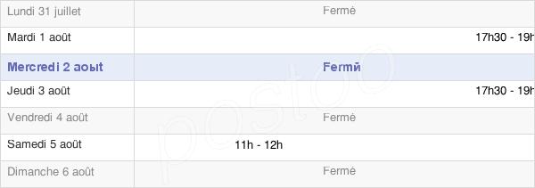 horaires d'ouverture de la Mairie De Saint-Rémy-Boscrocourt