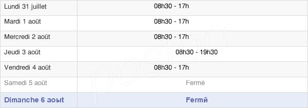 horaires d'ouverture de la Mairie Du 17e Arrondissement De Paris
