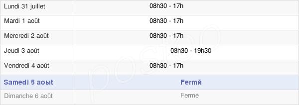 horaires d'ouverture de la Mairie Du 8e Arrondissement De Paris