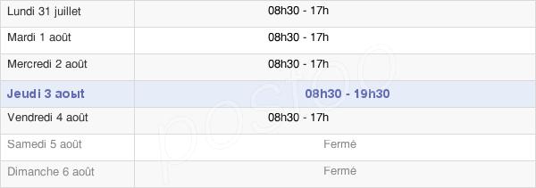 horaires d'ouverture de la Mairie Du 19e Arrondissement De Paris
